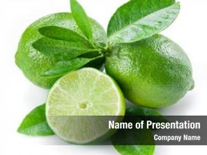 Fruits ripe lime half lime