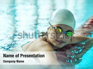 Lifestyle child portrait swimming