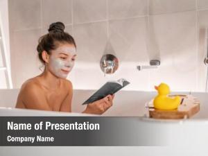 Woman bath home relaxing taking