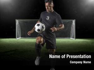 Playing soccer player soccer dark