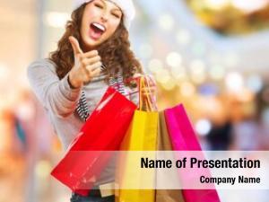 Shopping fashion girl bags shopping