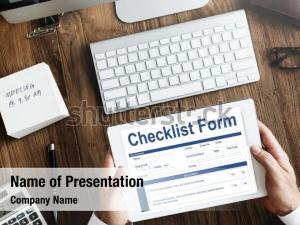 Application checklist form questionnaire concept