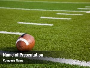 Green american football football field