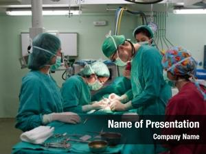Performing medical team surgery young