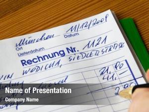 Evidence handwritten statement accounting
