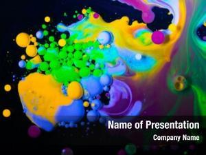 Bubbles color abstraction paint