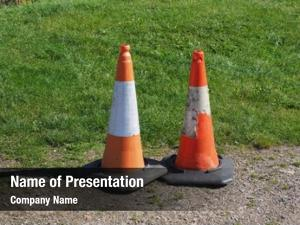 Mark traffic cones road works