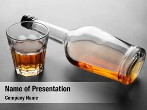 Alcohol glass bottle grey
