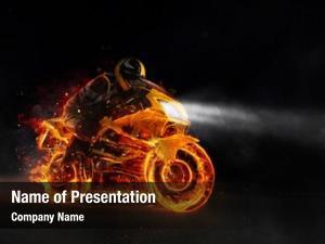 Motorbiker super sport fire darkness