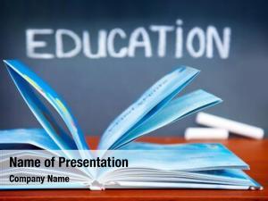 Open education concept, book desk