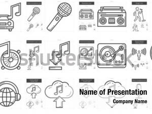 Music line powerpoint background