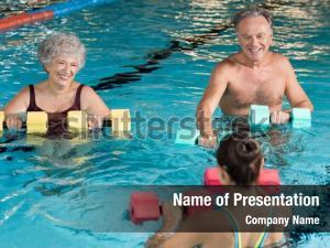 Senior couple in training