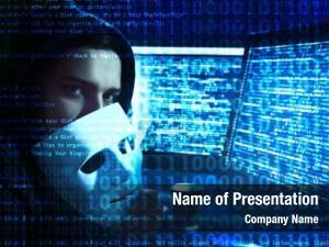Darkness hacker working