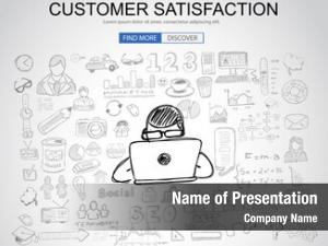 Concept customer satisfaction business doodle
