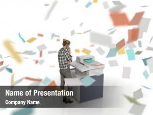 Machine crazy copier produces sheets