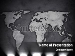 World map on concrete