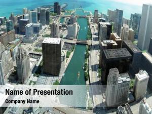Panorama chicago skyline 88th floor