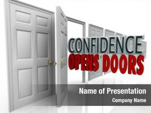 Words door opening confidence opens