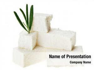 Cubes feta cheese rosemary twig,
