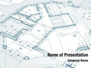 Architectural architectural blue plan modern