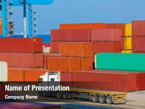 Shipping cargo freight containers docks,