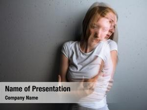 Suffering young woman severe depression/anxiety