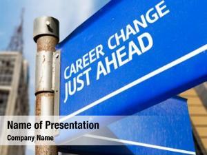Just career change ahead blue