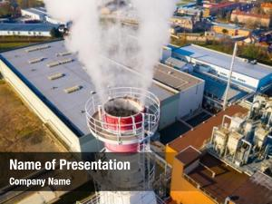 Industrial aerial view area chemical