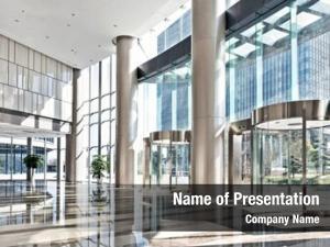 Modern empty hall office building