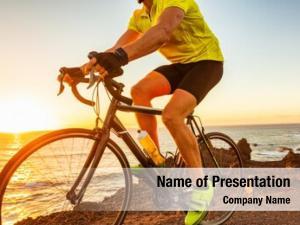 Sunset bike race road biking