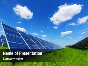 Blue solar panel sky