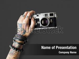 Antique photography tattoo camera