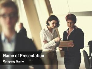 Business smilling young woman front