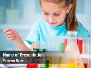 Flasks little girl chemistry