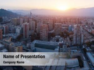 City aerial panorama santiago chile