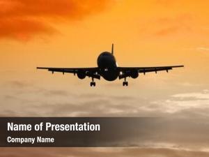 Plane jet air sunset