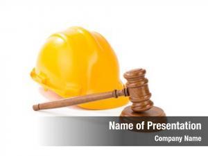 Gavel wooden judge helmet white