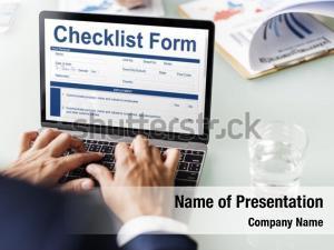 Application checklist form questionnaire