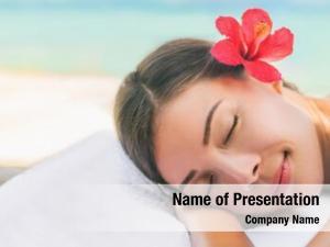 Therapy spa massage woman lying