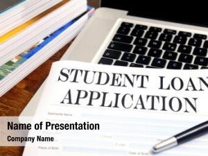Loan blank student application desktop
