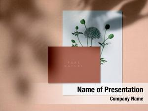 Design pure nature card mockups