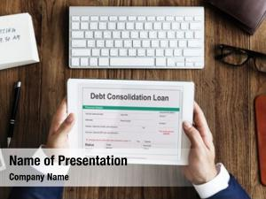Loan debt consolidation financial concept