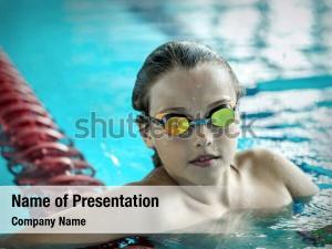 Underwater child portrait swimming