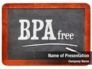 Free bpa (bisphenol blackboard sign