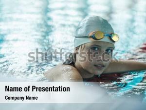 Child portrait swimming athlete glasses