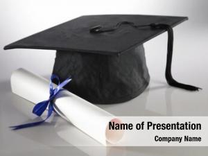 Diploma graduation cap plain