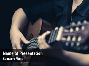 Vintage classic guitar toned musician