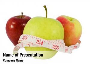 Different diet concept apples measure