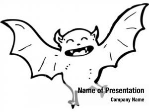 Cartoon halloween bat