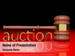Wooden auction concept gavel